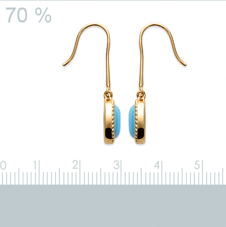 Burren Jewellery 18k gold plate caribbean earrings