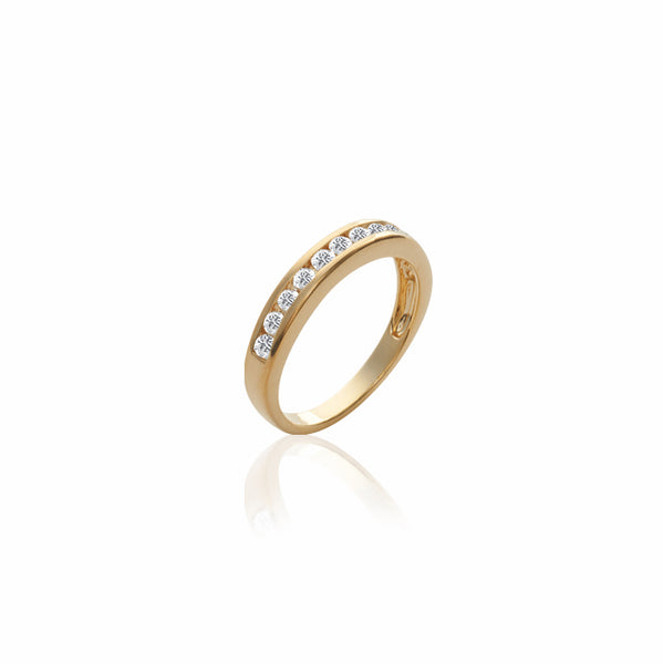 Burren Jewellery 18k gold plate channel your love ring