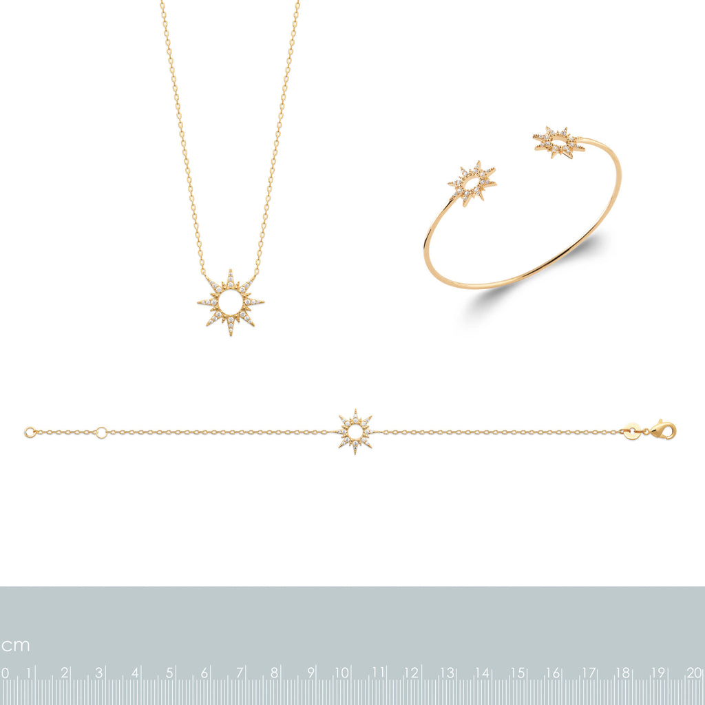 Burren Jewellery 18k gold plate danseur Etoile necklace measurements