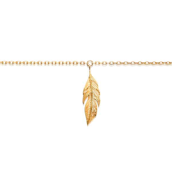 Burren Jewellery 18k gold plate Leaf It Out Anklet