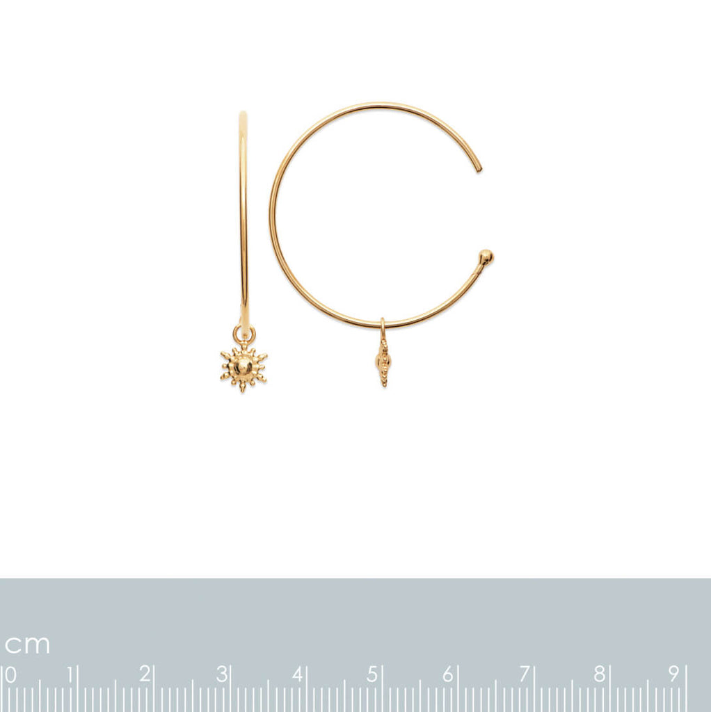 Burren Jewellery 18k gold plate lets stay together hoop earrings measurements