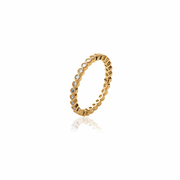 Burren Jewellery 18k gold plate one track mind ring