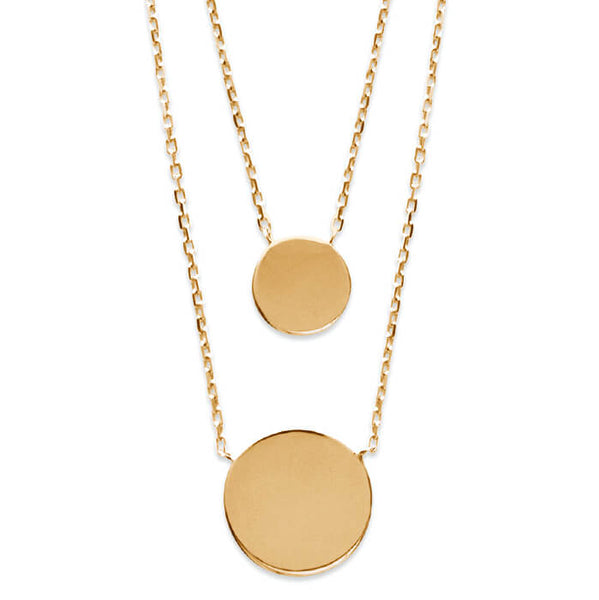 Burren Jewellery 18k gold plate Snooping Around necklace