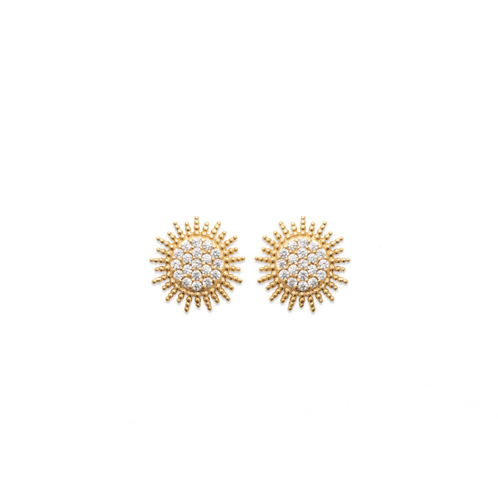 Burren Jewellery 18k gold plate sun burst earrings