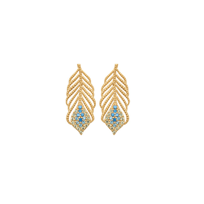 Burren Jewellery 18k gold plate talking italian earrings
