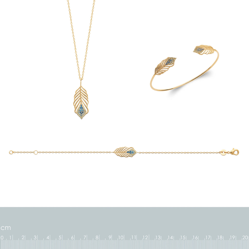 Burren Jewellery 18k gold plate talking italian necklace measurements