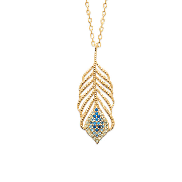 Burren Jewellery 18k gold plate talking italian necklace