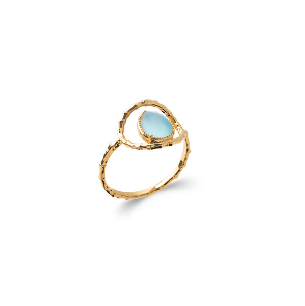 Burren Jewellery 18k gold plate the pair of yaeh ring