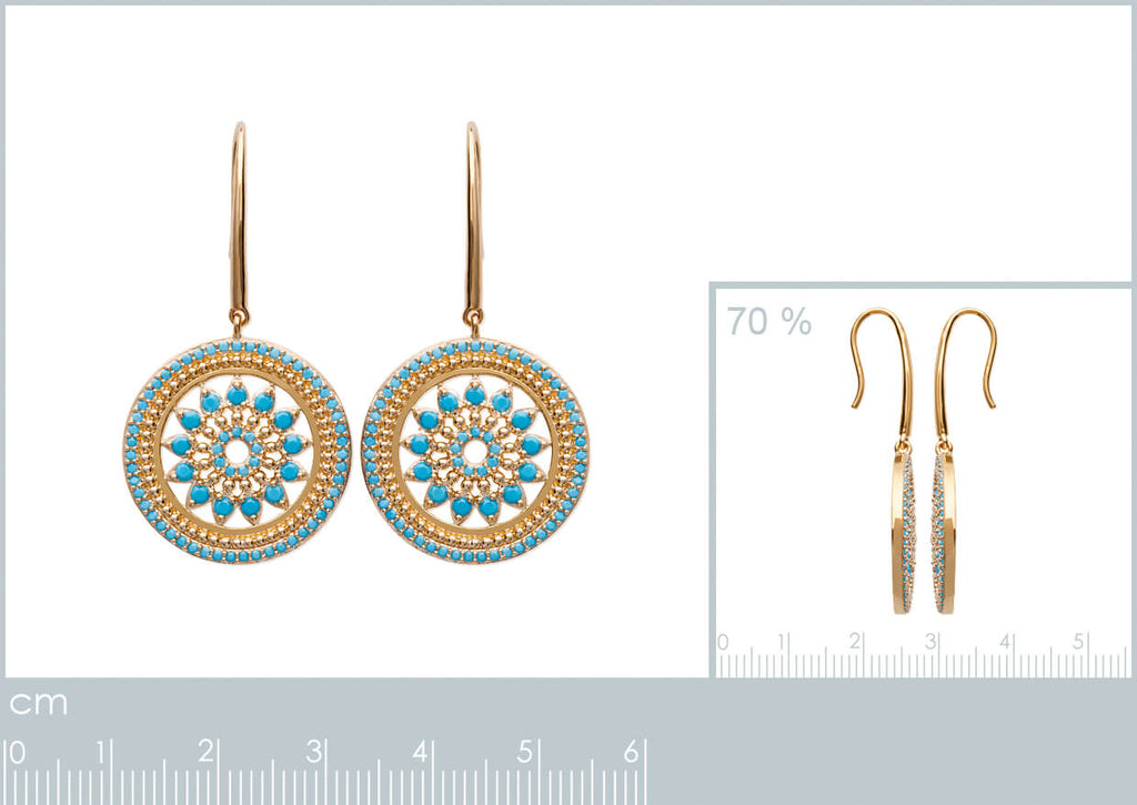 Burren Jewellery 18k gold plate Torq wise earrings measurements