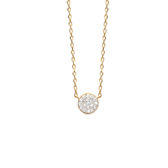 Burren Jewellery 18k gold plated Pav Ehh necklace