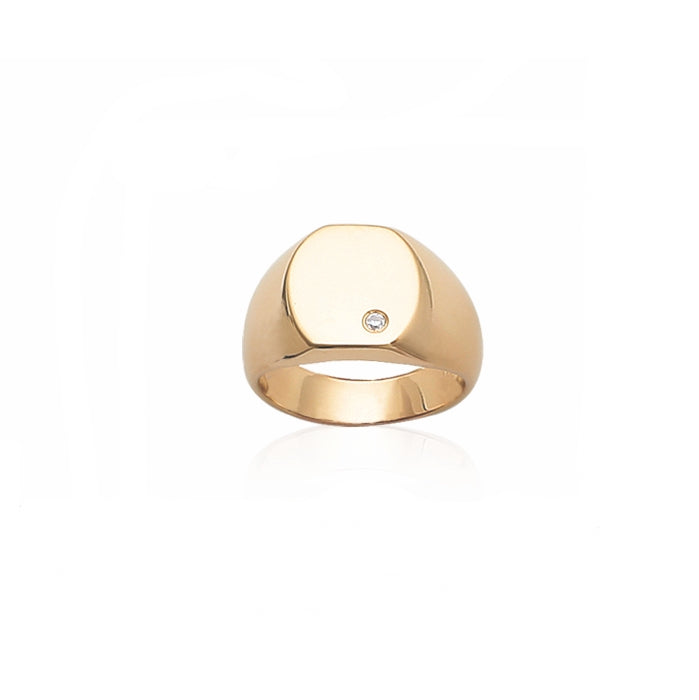 Burren Jewellery 18k gold signel is strong signet ring