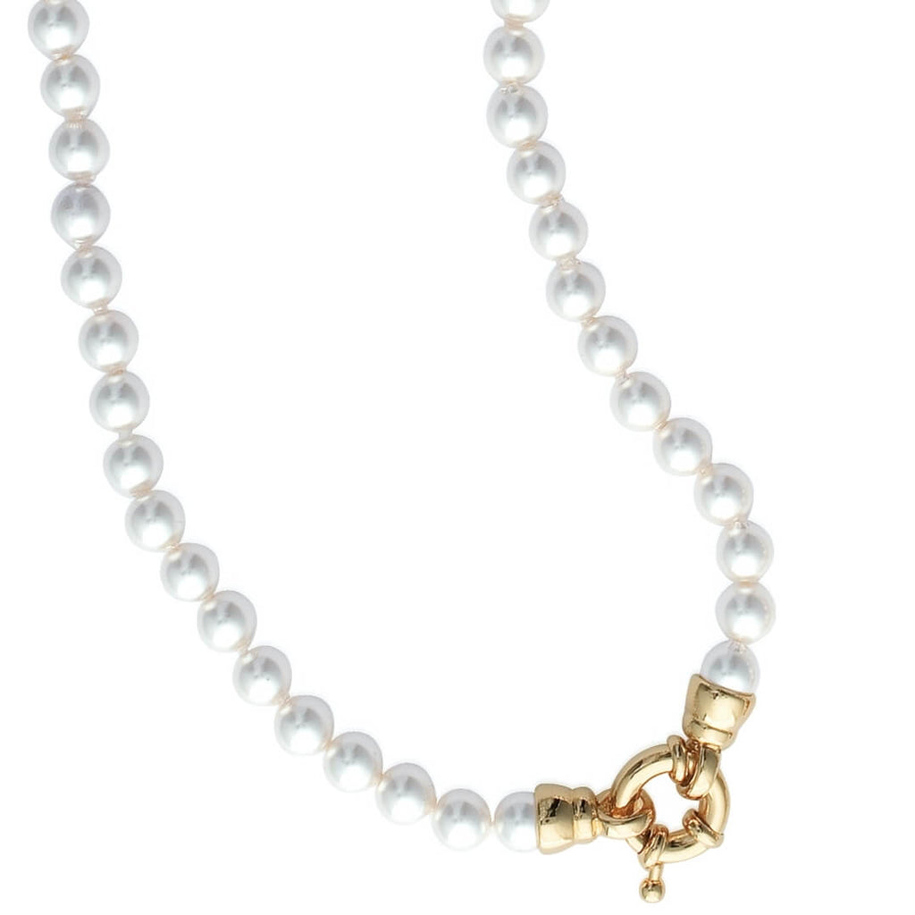 Burren Jewellery grace pearl necklace with 18k gold plate clasp
