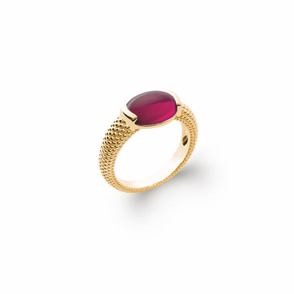 Burren Jewellery Capo Shine 18k gold plate ring