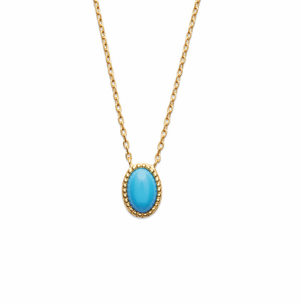 Burren Jewellery Caribbean 18K Gold plated Torquoise colour stone 18k gold plate necklace