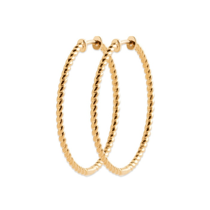 Burren jeweller 18k gold plated before we were born hoop earrings large