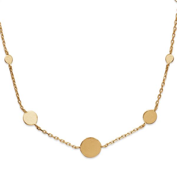 Burren jewellery 18k gold plate Disk jockey necklace
