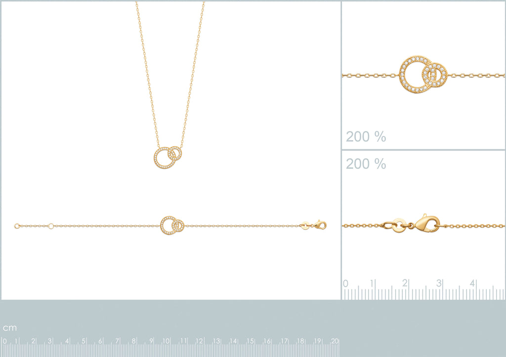 Burren jewellery 18k gold plate Mother and child necklace measurements