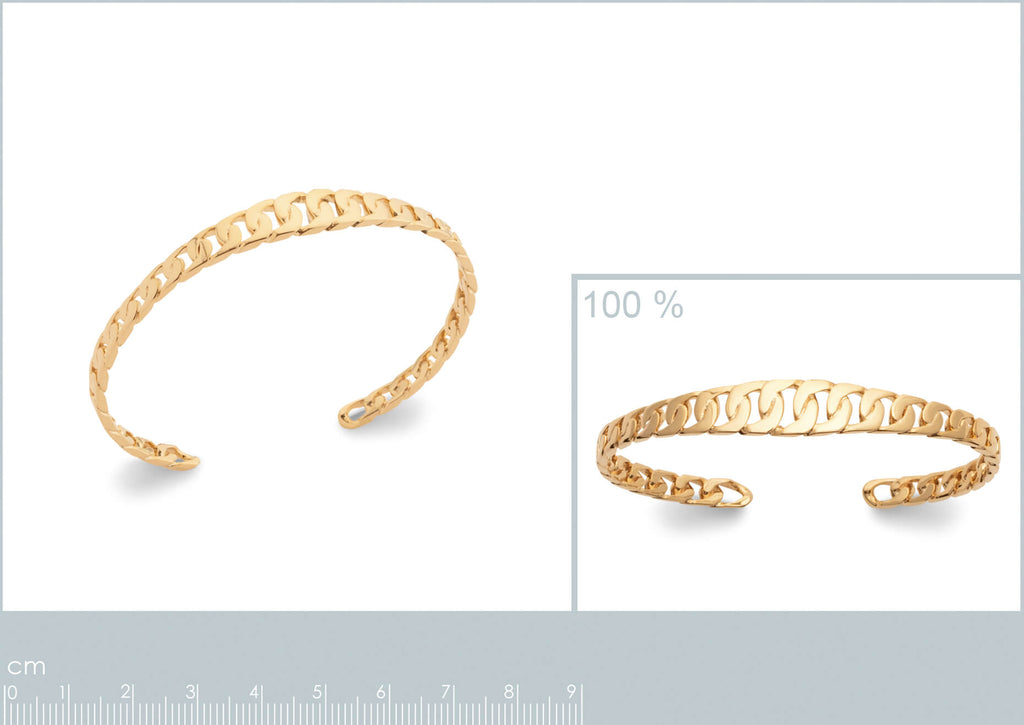 Burren jewellery 18k gold plate california dreaming bangle measurements