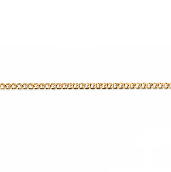 Burren jewellery 18k gold plate curb your Enthusiasm chain necklace