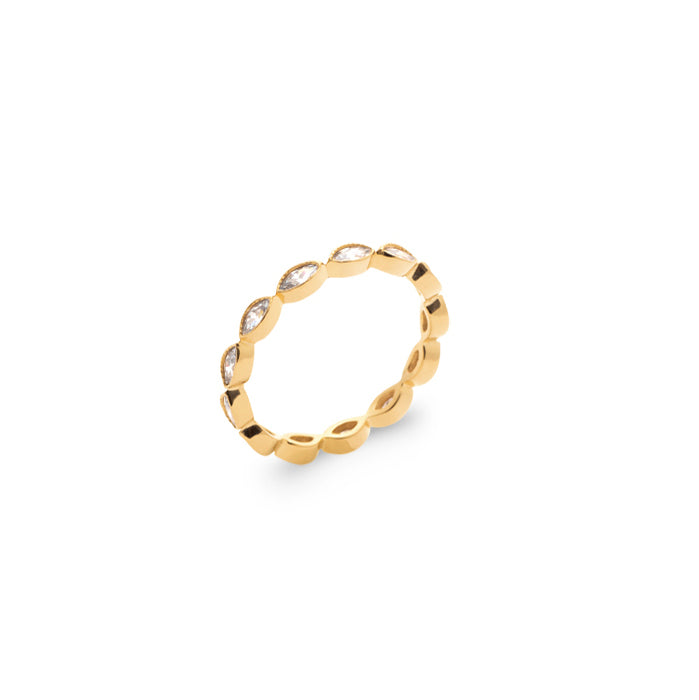 Burren jewellery 18k gold plate labelled with love ring