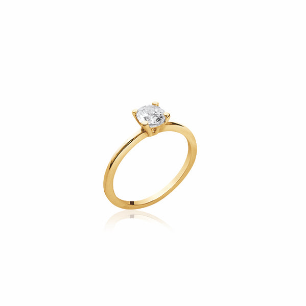 Burren jewellery 18k gold plate will u marry me ring