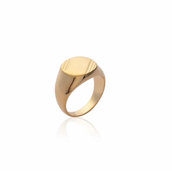 Burren jewellery 18k gold plated Signel is strongest signet ring