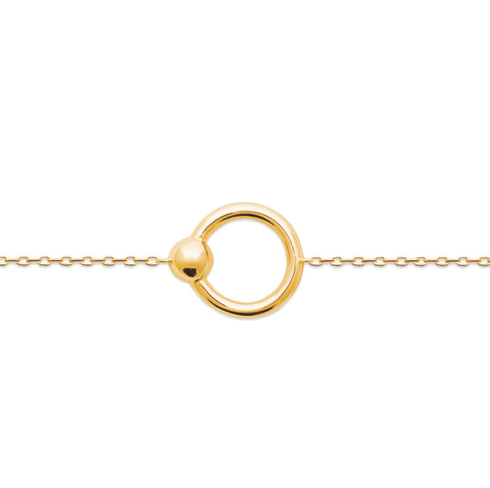Burren Jewellery Your All I Need 18K gold plate bracelet round loop