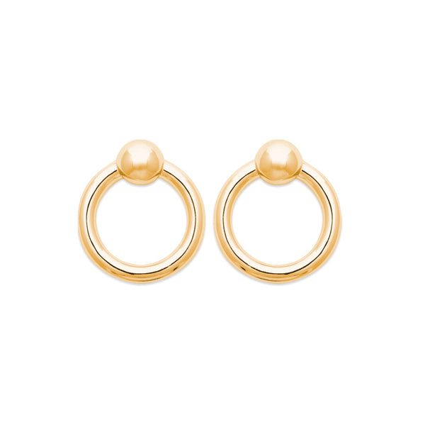 burren jewellery burren jewellery Your All I Need 18K gold plate earring round loop