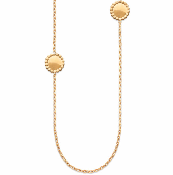 sodade 18k gold necklace 110cm