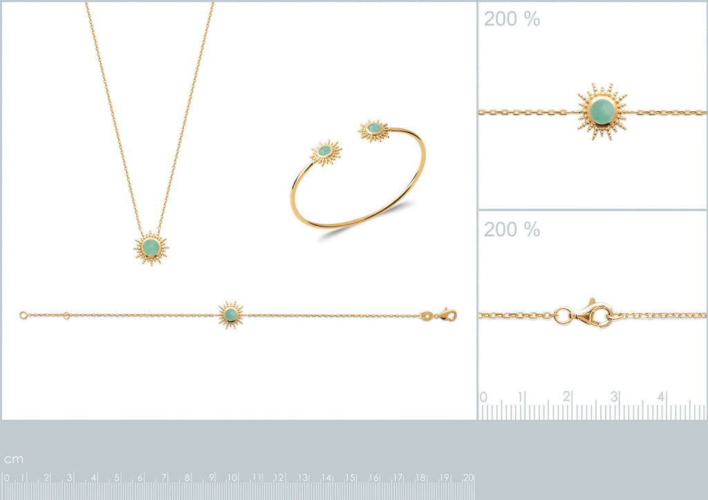 burren jewellery 18k gold a venture in paridise necklace measurements