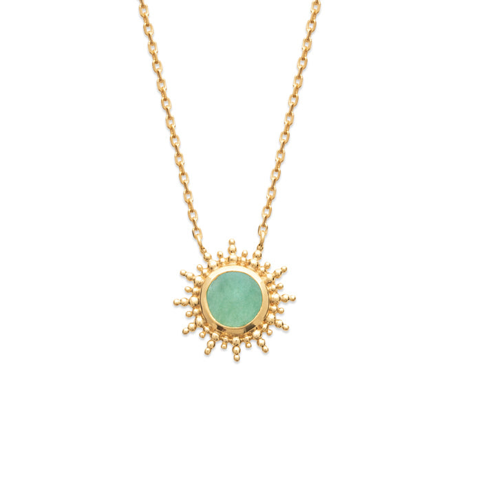 burren jewellery 18k gold a venture in paridise necklace