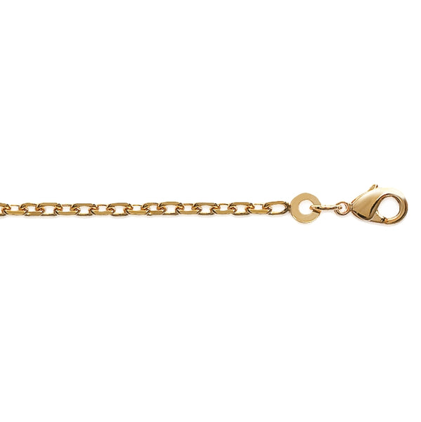 burren jewellery 18k gold plate anchor out necklace