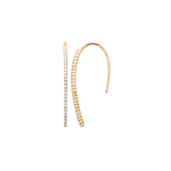burren jewellery 18k gold plate hooked earrings