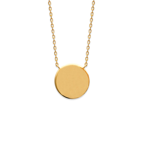 Burren Jewellery 18k gold plate take a chance on me necklace