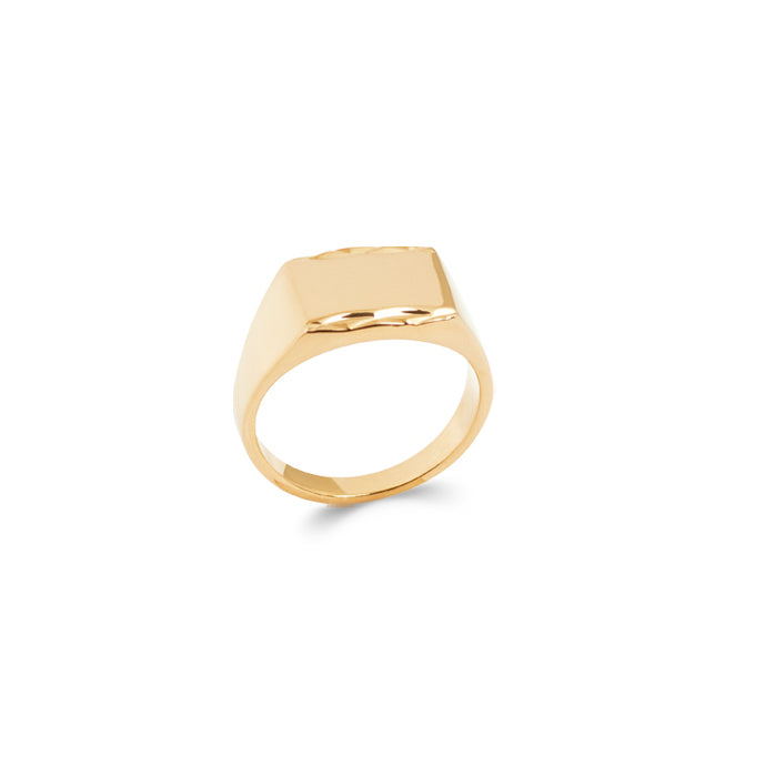 burren jewellery 18k gold plated Signal Is stronger Signet Ring