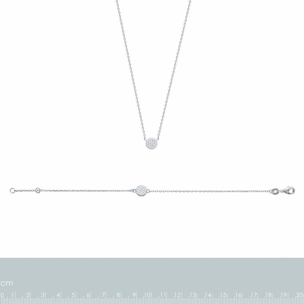 burren jewellery Silver Pav ehh necklace measurements