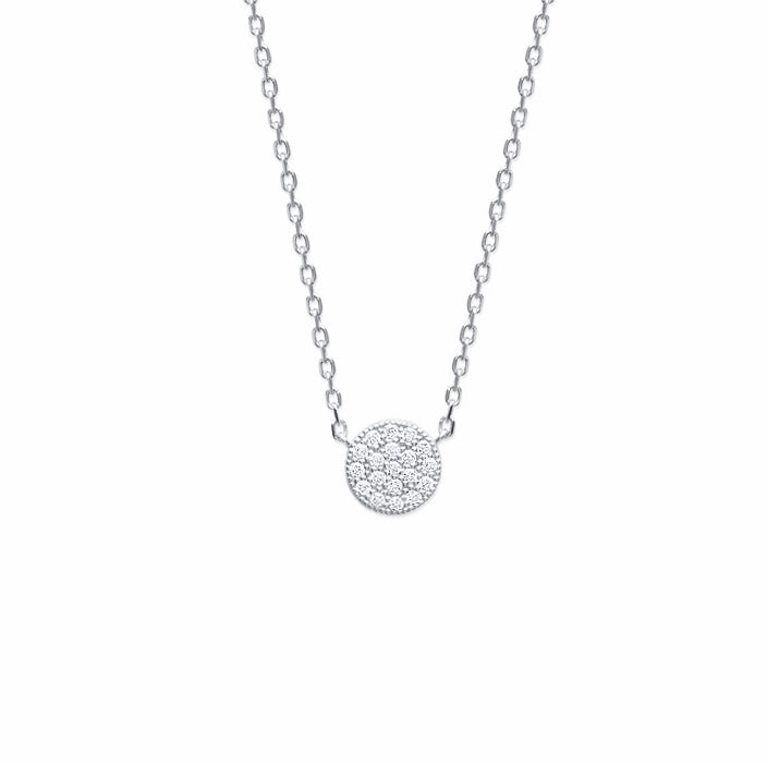 burren jewellery Silver Pav ehh necklace