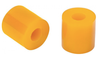 2x Elastomers Yellow Medium Hardnes 80 Shore A