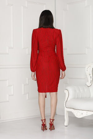 Full Back Alissa Lurex Dress perfect for a party