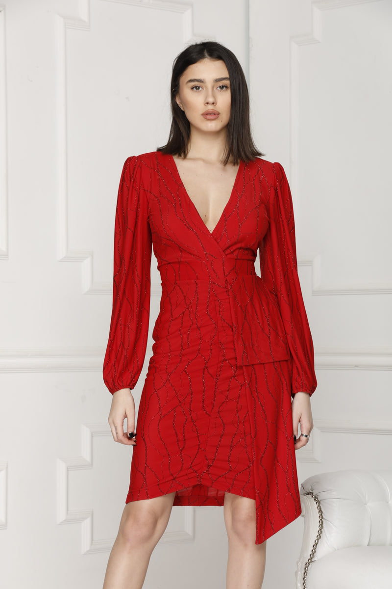 Red Lurex Perfect Party Dress