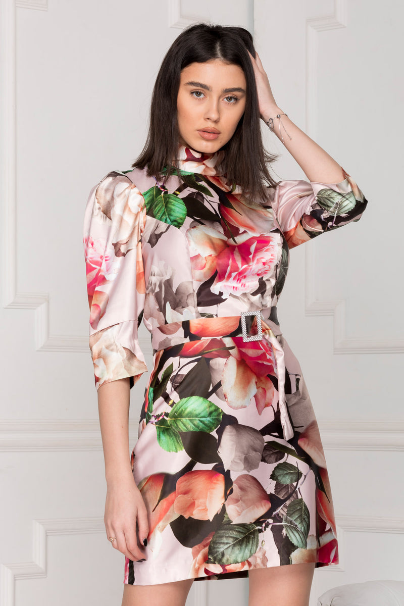 Floral Satin Luxe Dress.