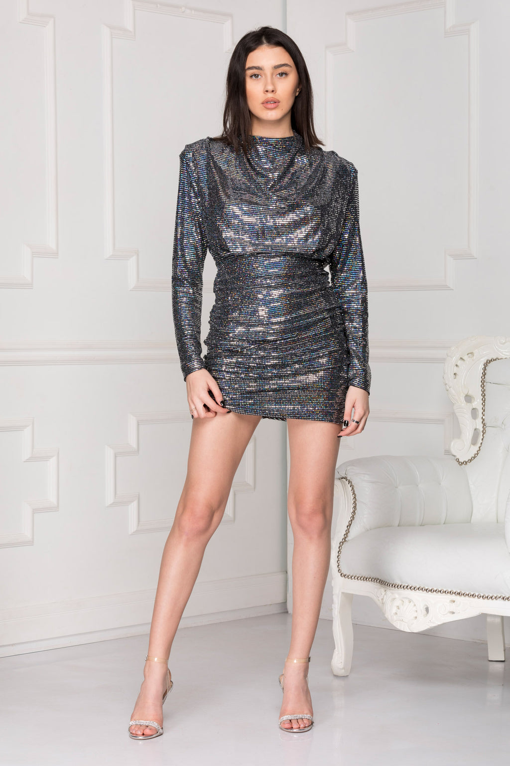 Katia Mini Sequins Dress full body.