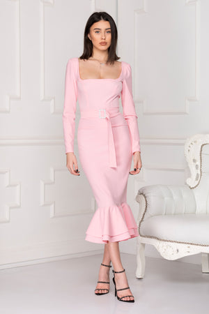 La Dolce Vita Powder Pink Midi Dress.