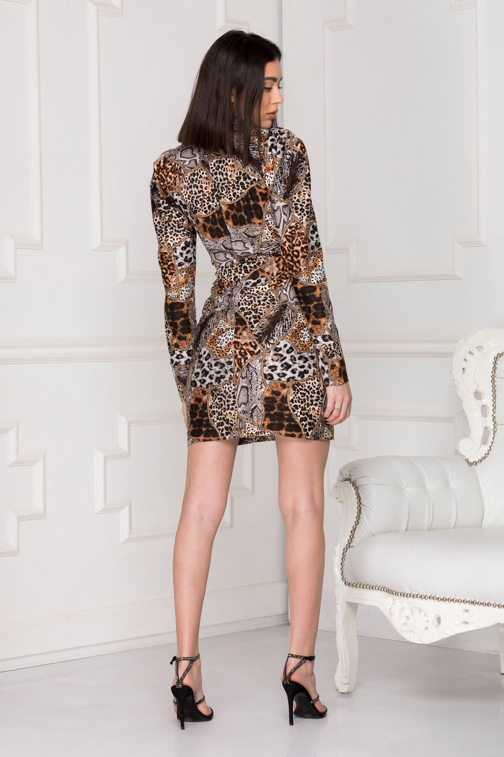 Leopard Print Dress full back details.