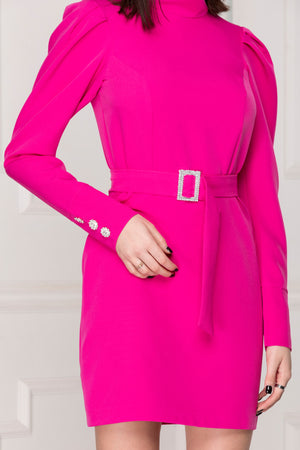 Mini luxe dress details pink colour.