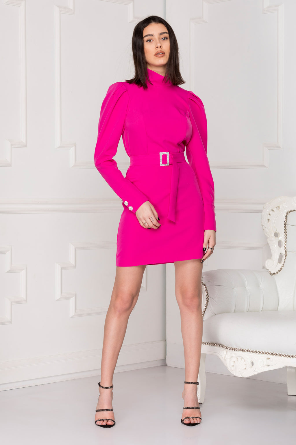 Mini Luxe dress neon colour.