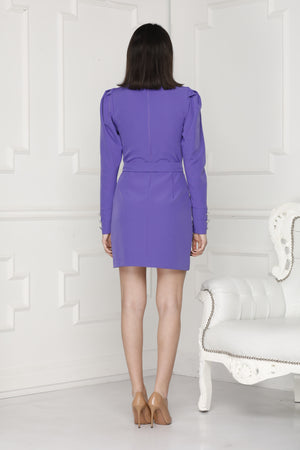 Mini Luxe Dress back purple colour.