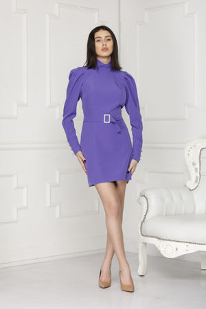 Mini Luxe dress purple full body.