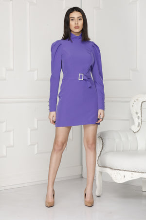 Mini Luxe dress full body colour purple.