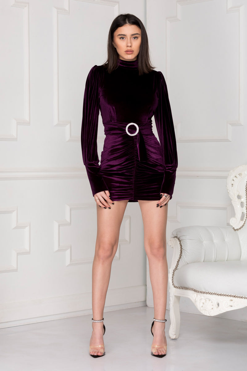 Rebecca Velvet Dress is all that you need for a Night Out.
